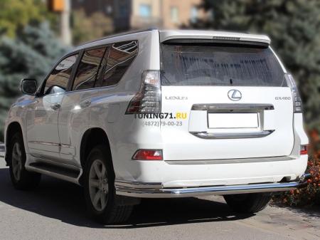 """Lexus GX 460 2013-наст.вр.-Защита заднего бампера """"Волна"""" d-76+60"""